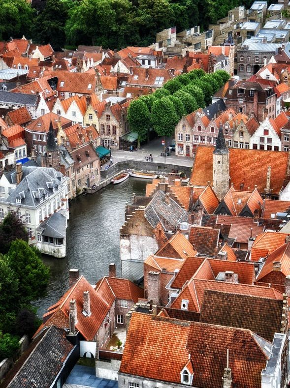 Bruges, Belgium - one of our favorite places to go for fries & chocolate.  :)