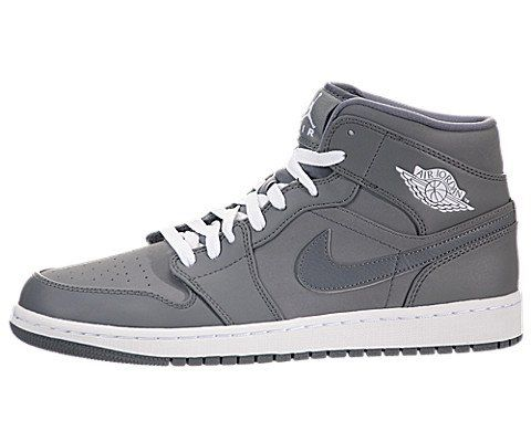 Nike Jordan Men's Air Jordan 1 Cool Grey/White/Cool Grey Basketball Shoe 10 Men US. Color: Cool Grey / White-Cool Grey. An encapsulated Air sole unit for lightweight cushioning. 10 D(M) US. Jordan Wings logo on the upper side. Variation Attributes: Color - Cool Grey / White Cool Grey.