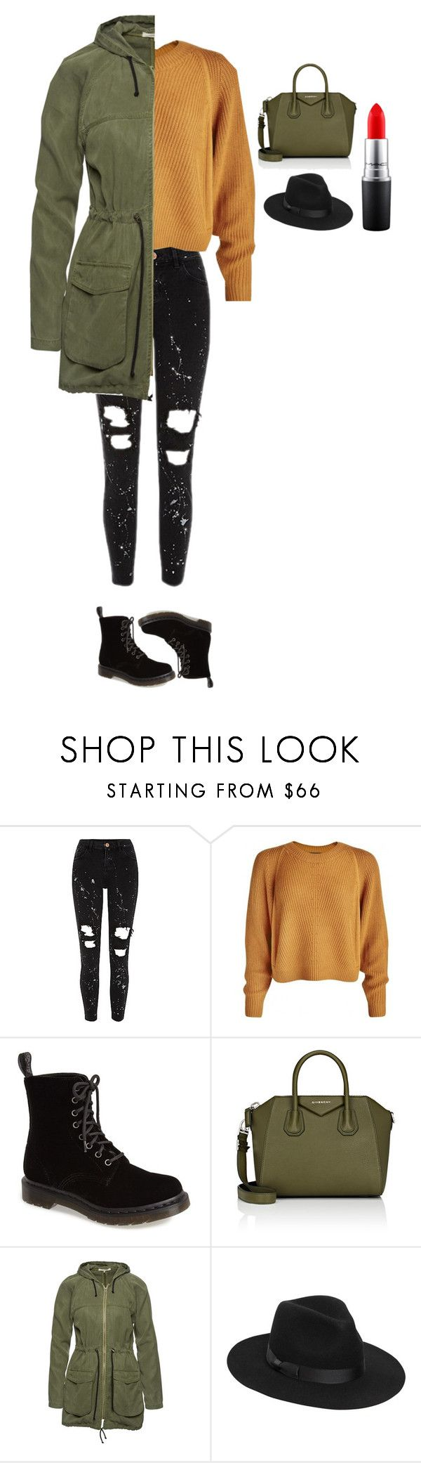 """""""Untitled #354"""" by dutchfashionlover ❤ liked on Polyvore featuring Dr. Martens, Givenchy, Wunderwerk, Lack of Color, MAC Cosmetics and casual"""