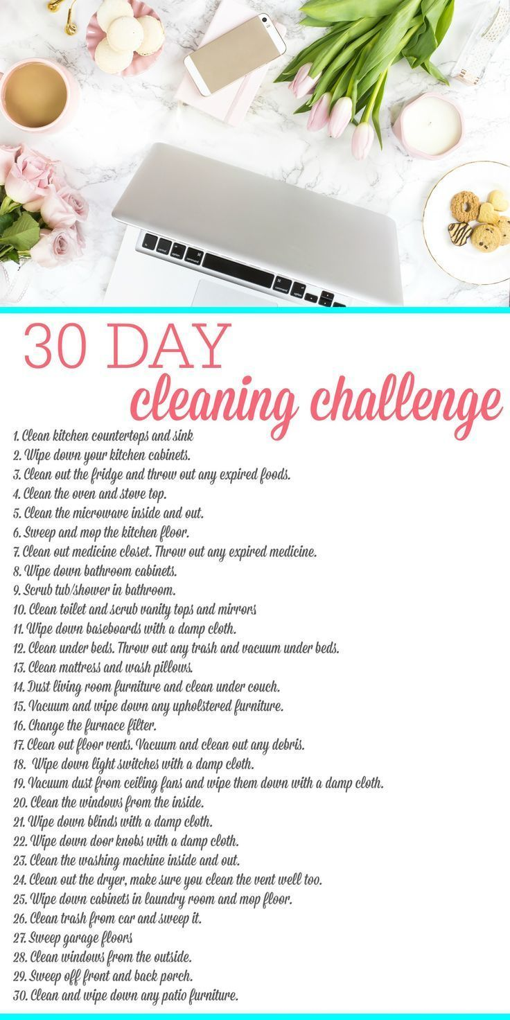 Tired of a dirty house? Get ready for spring with the 30 day cleaning challenge. It will only take a few minutes each day, so join me in this simple challenge.