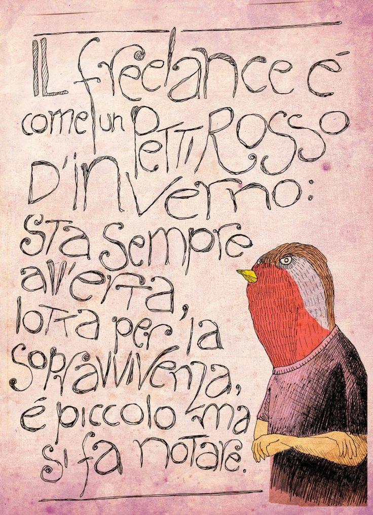 Come essere un freelance felice (e davvero free!) - metafora del pettirosso | via Alessandro Bonaccorsi -  Zuppagrafica
