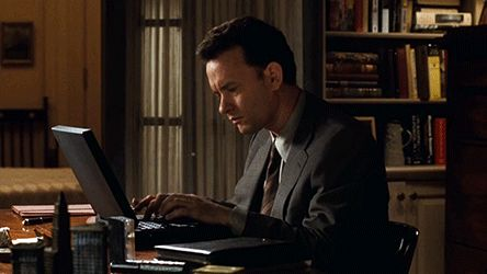 Tom Hanks Typing