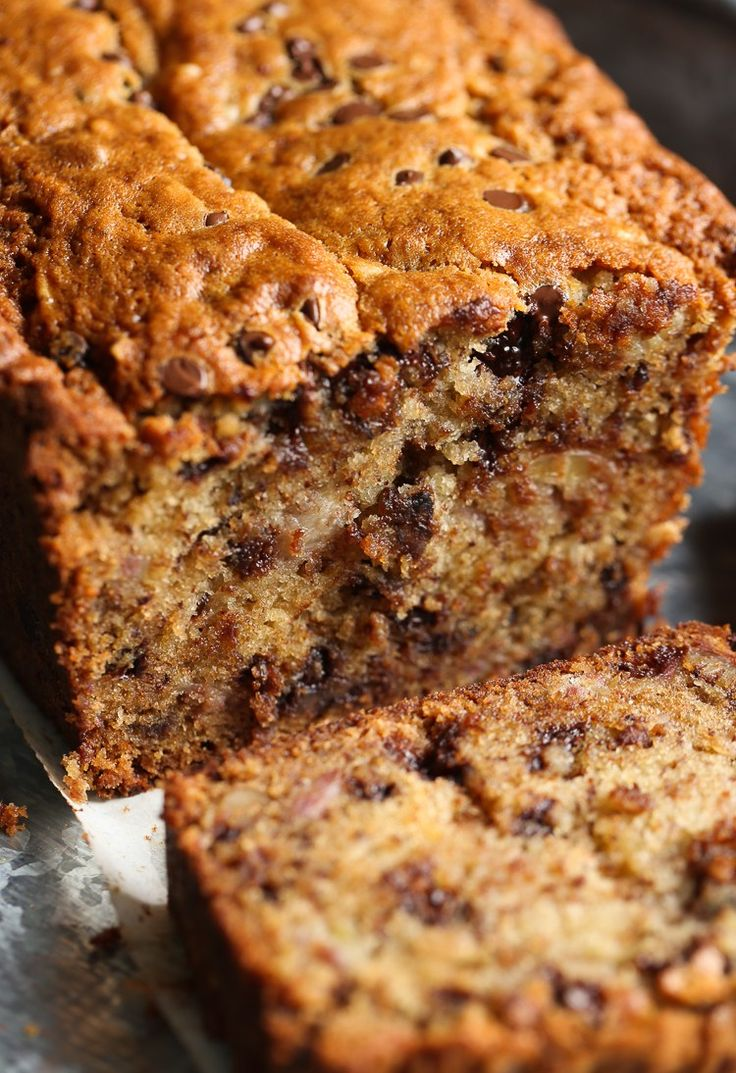 The BEST Banana Bread and this one has chocolate chips! I use a secret method to get extra banana flavor and texture!