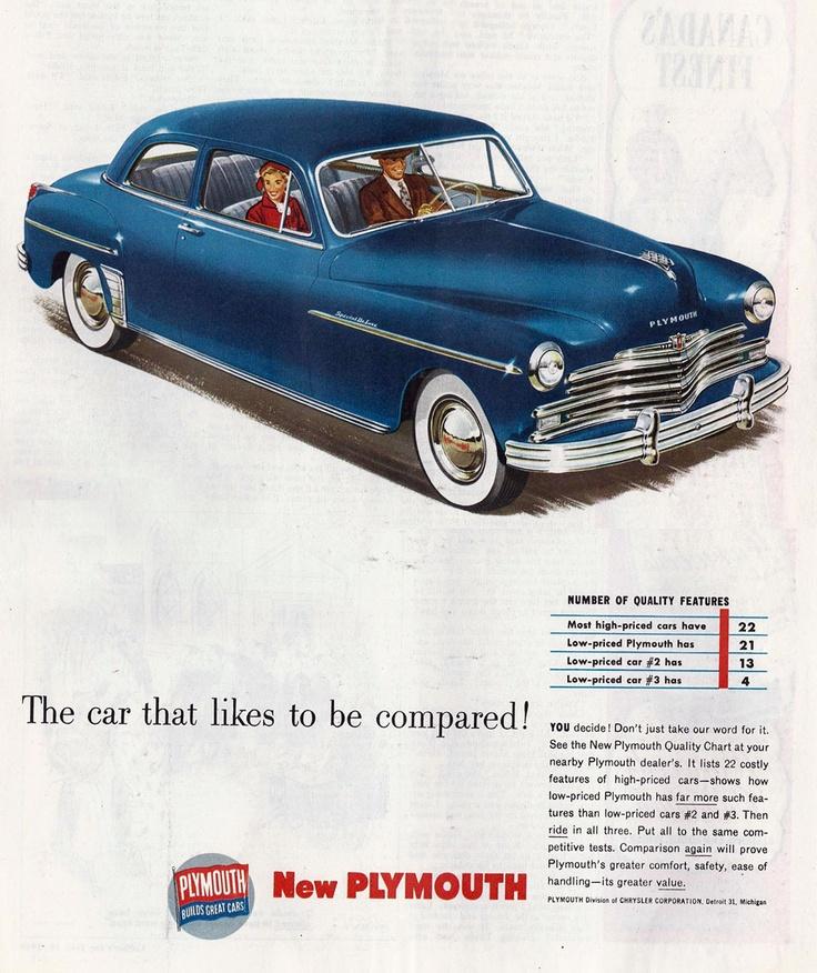 1949 plymouth special deluxe 2 door sedan retro car ads for 1949 plymouth 2 door sedan