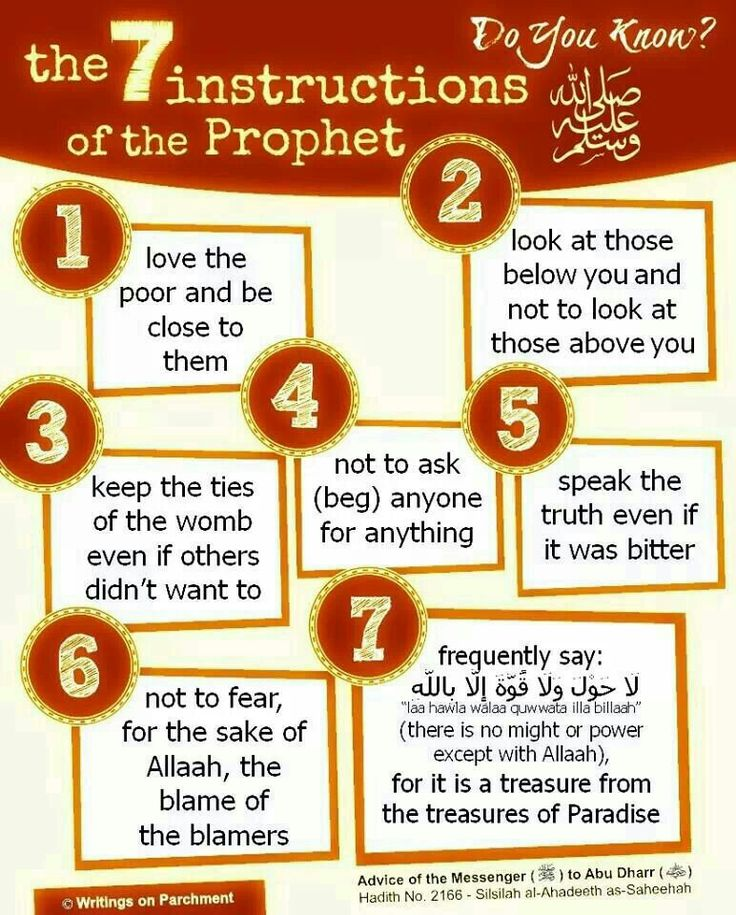 Follow the actions of the Prophet Muhammad SAW ♡