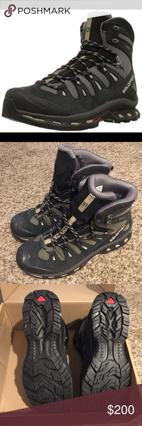 NEW Salomon Quest 4D 2 GTX Men's Hiking Boots BRAND NEW Salomon Quest 4D 2 GTX - Men's Size 11 - Detroit/Black/Navajo color. Never worn, were given as a gift and forgotten to return due to moving. Salomon Shoes Boots
