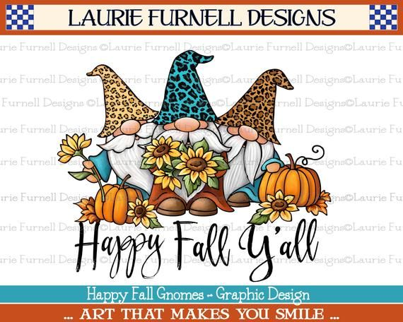 Leopard Print Gnome Png Happy Fall Y All Gnome Etsy In 2021 Fall Clip Art Happy Fall Gnomes