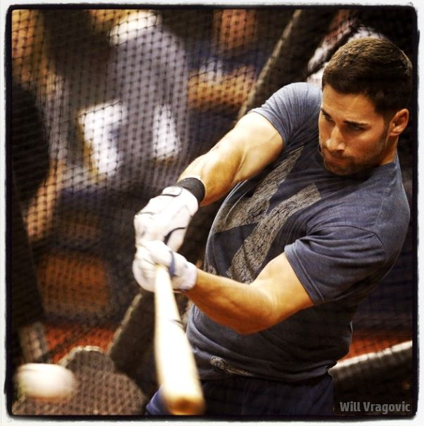 Tampa Bay Rays 2015 - Kevin Kiermaier taking batting practice, Great photo by Will Vragovic of the Tampa Bay Times