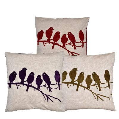 Birds on Branch Cushion Cover