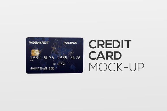 Credit Card In Hand Mock Up