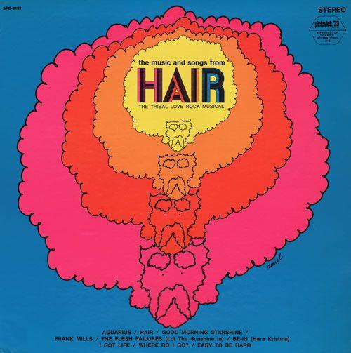 Hair  1970s album artwork by Daniel