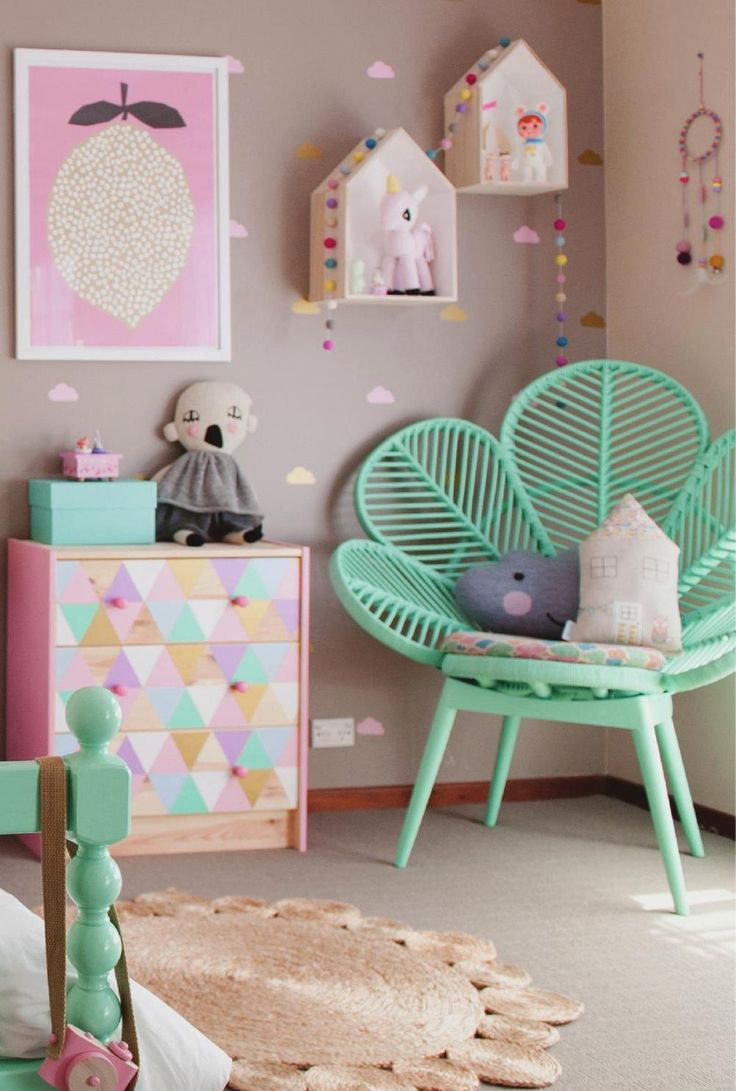 Soft greys & pastels in this girls room #ClippedOnIssuu from Adore Aug/Sep 2014