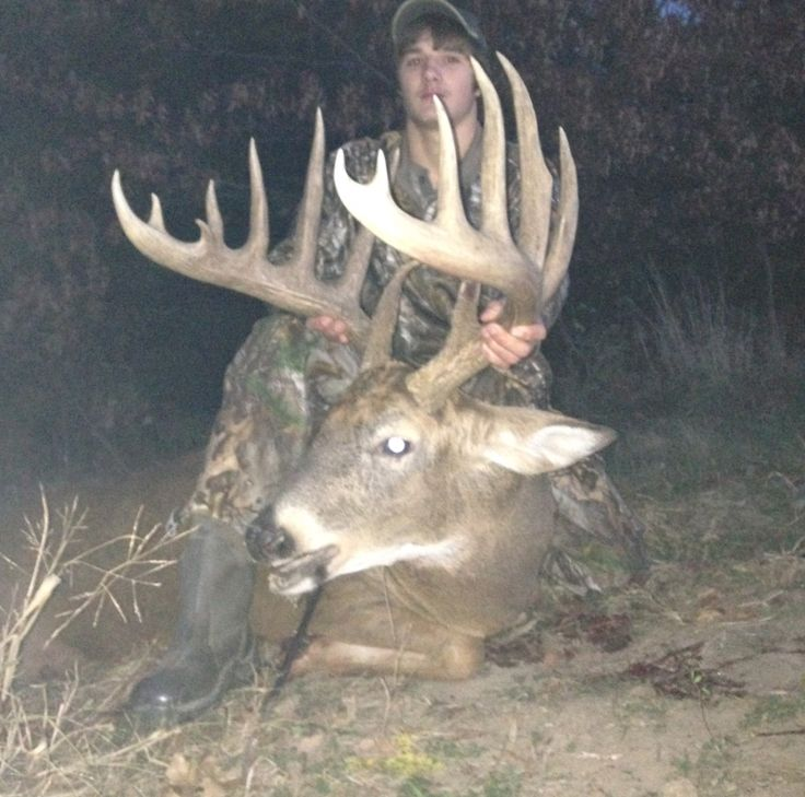 Austin Pontier Buck - Giant Iowa Typical Whitetail Buck shot with a crossbow
