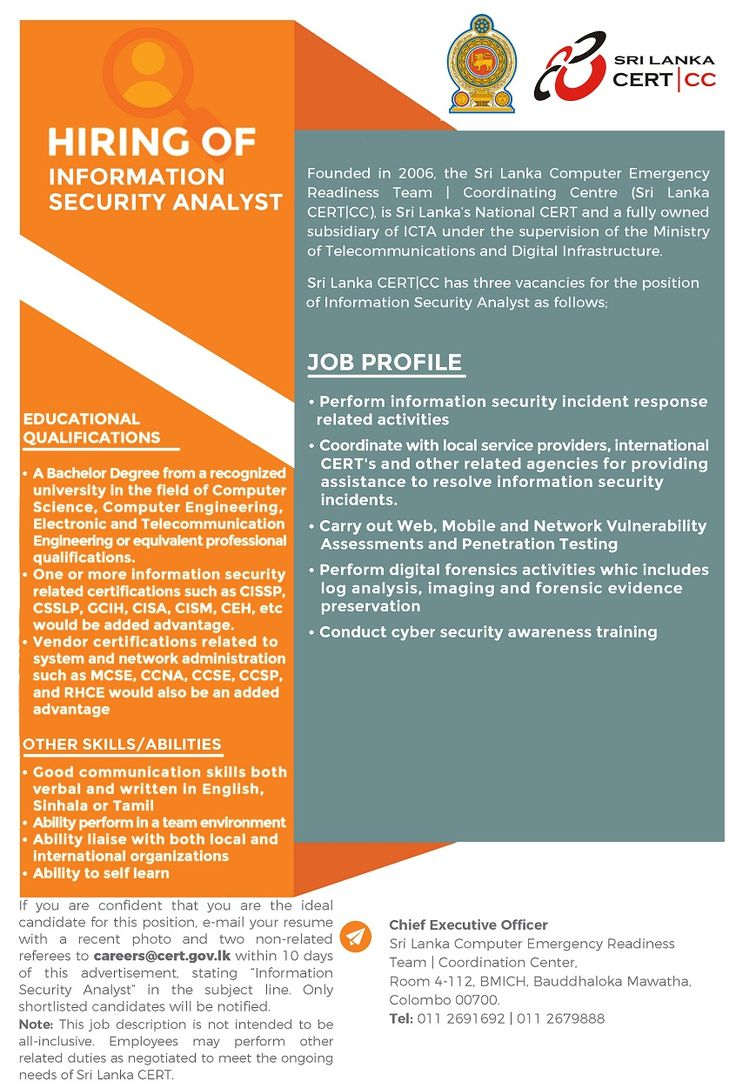 Information Security Analyst at Information and