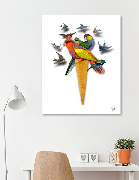 Discover «BIRDS ICE CREAM», Numbered Edition Acrylic Glass Print by Gloria  Sánchez - From 70€ - Curioos