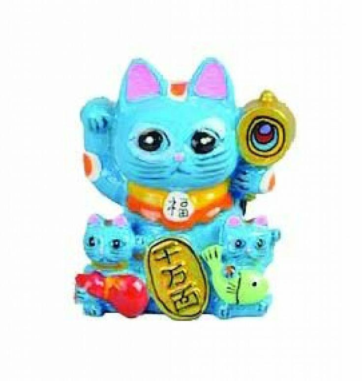 Lucky Cat Blauw Magnetisch / The Oriental Shop