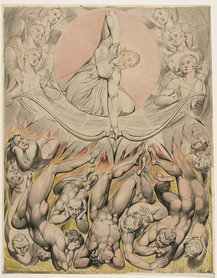 https://flic.kr/p/xdQy1U | The Casting of the Rebel Angels into Hell (Illustration to Milton's 'Paradise Lost') | 1808. Pen and watercolor on paper. 49,6 x 39,3 cm. Museum of Fine Arts, Boston. 90.98.