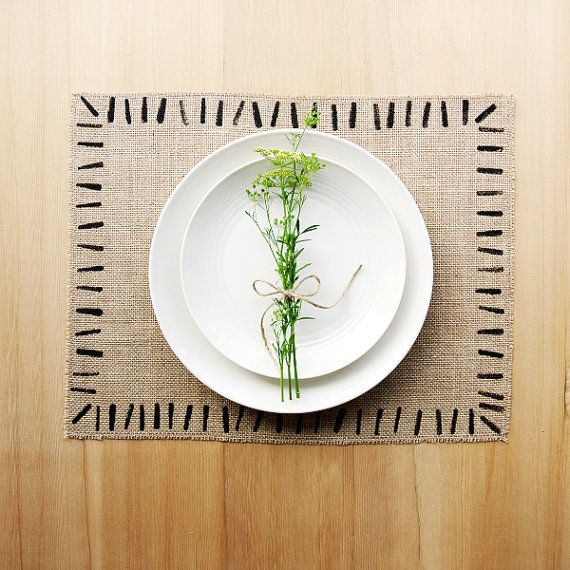 Gorgeous hand printed placemats from DappleDesignShop on Etsy.