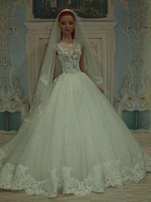 """WEDDING DRESS for American model 22"""" Tonner doll 18/09/11"""