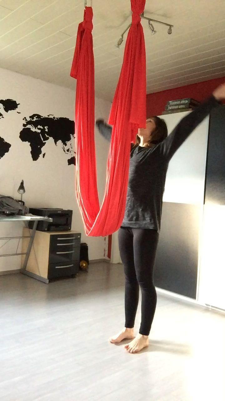 Aerial Yoga Flow Beginner Flow Inside Yoga Inspired Aerial Flow