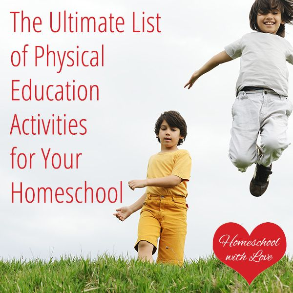 Need ideas for physical education activities for your homeschool? Check out this huge list.