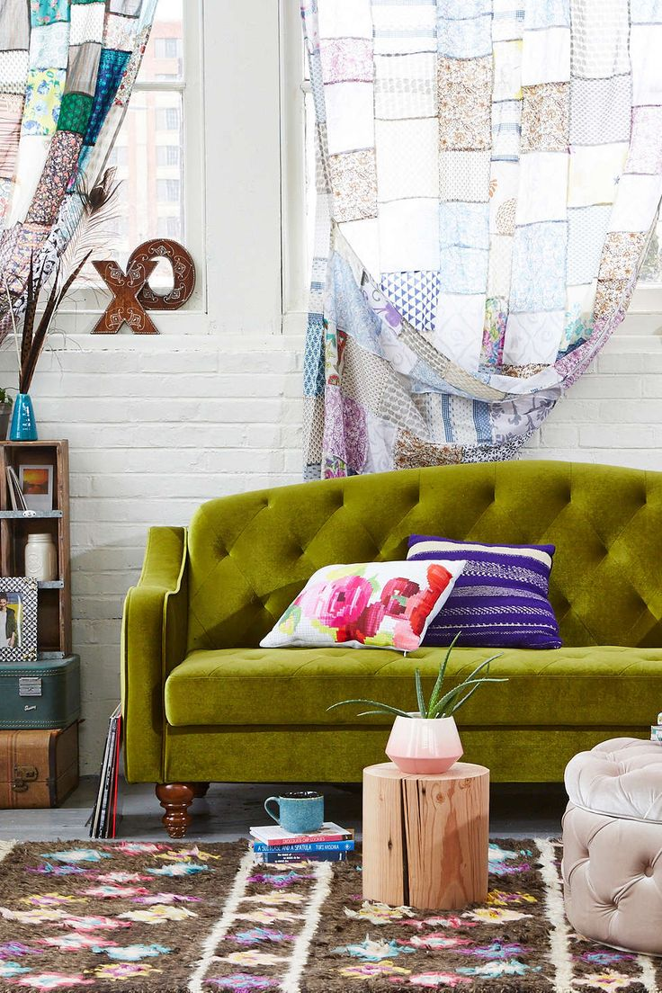 Ava Velvet Tufted Sleeper Sofa Urban Outfitters Furniture And On My Own