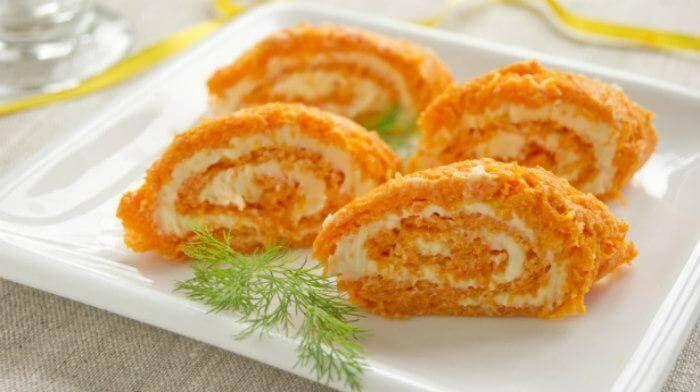 Морковные рулетики - быстрое, несложное, вкусное и полезное блюдо для праздничного стола и на каждый день. Любят и дети, и взрослые!