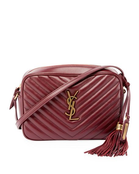 cd80d6fb58fc Loulou Monogram YSL Medium Chevron Quilted Leather Camera Shoulder ...