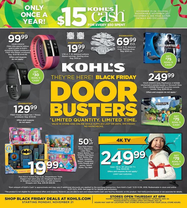 Kohls Black Friday Ad 2016
