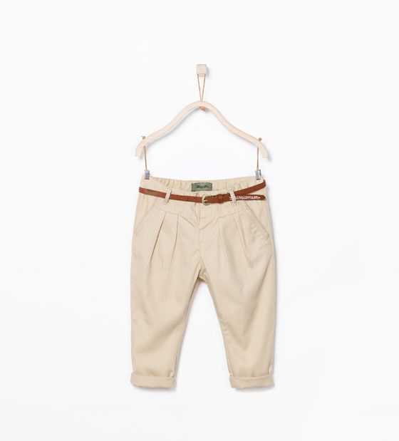 ZARA - ENFANTS - Pantalon chino ceinture