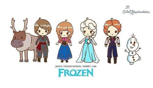 Chibi Frozen characters....... | Frozen | Pinterest ...