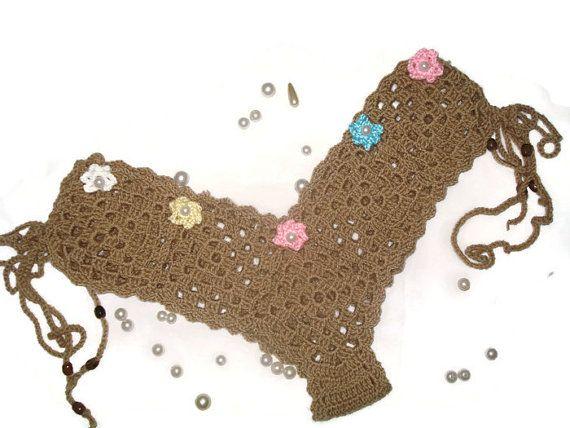 ERA Crochet Bikini Crochet Triangle Bikini Top by RuveydaSweetDreams