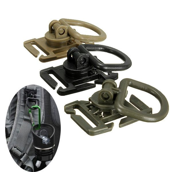 Molle Tactical 360 Degree Rotation D Ring Buckle For Vest Backpack Sale - Banggood Mobile
