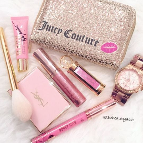 Makeup • Juicy Couture • glitter • brushes • watch ♡ Laura ♡ - Luxury Beauty - http://amzn.to/2hZFa13