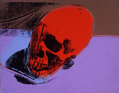 Skull - Andy Warhol 1976 American, 1928-1987 acrylic and silkscreen ink on linen 15 x 19 in. (38.1 x 48.3 cm.)