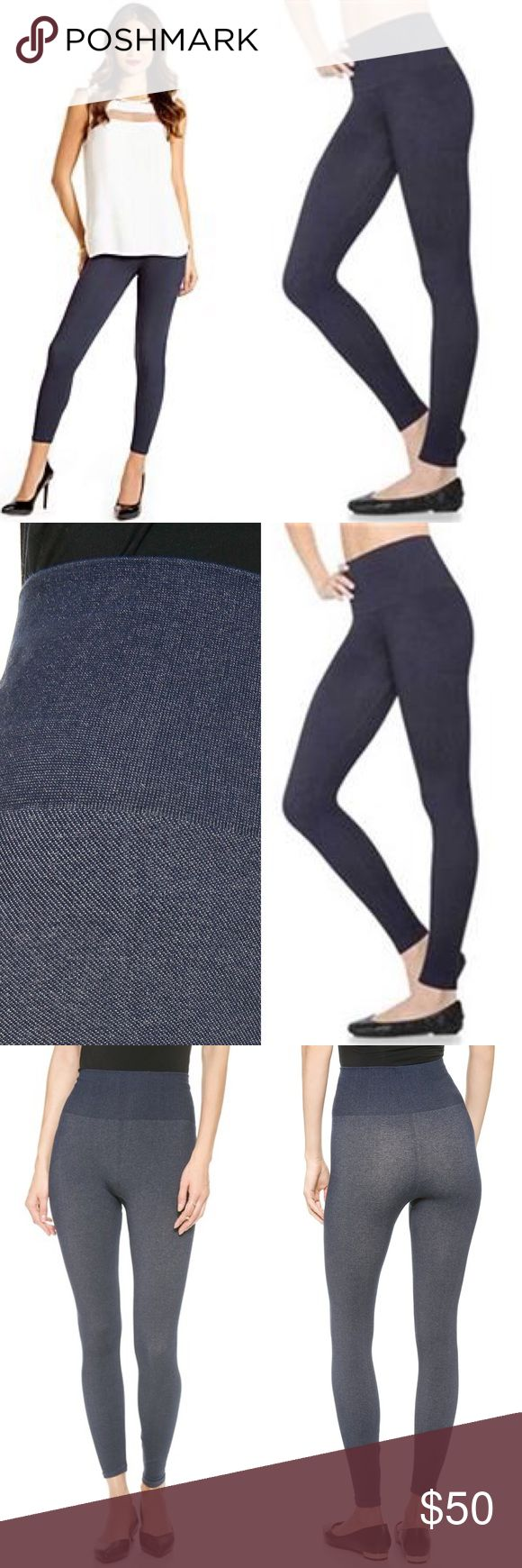 New Spanx Looks at me leggings denim LARGE Spanx LOOK AT ME LEGGINGS. denim full length shaping leggings. Size Large. Hard to find. Material content: SPANX Pants Leggings