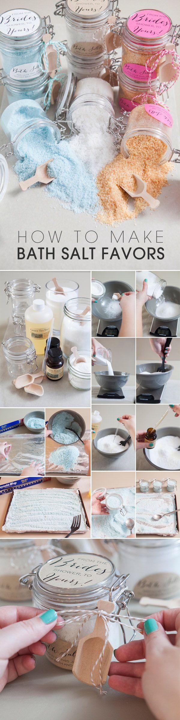 DIY bath salt wedding favors your guest will love