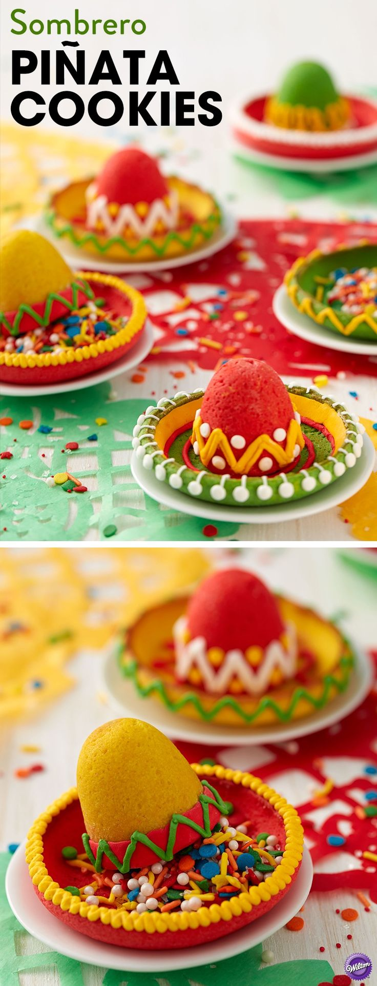 These Sombrero Pinata Cookies are perfect for your fiesta! Click to get the full instructions from JoAnn.com!
