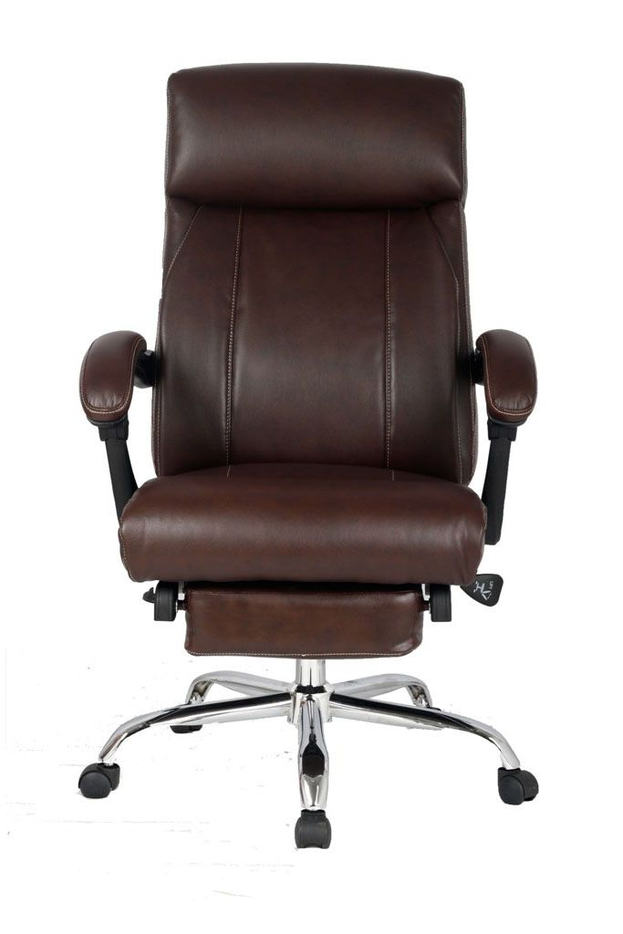 VIVA OFFICE® New High Back Ergonomic Brown Bonded Leather Swivel Recliner Napping  Chair With