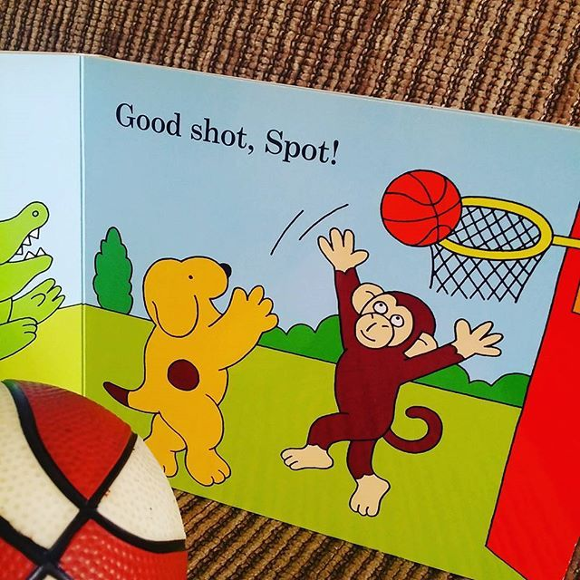 Spot loves sport by Eric Hill is my pick for day 30 of the #ekbooks #picbookaday challenge, theme: sport. #spot #bookskidslove #picturebook #basketball #brisbaneblogger