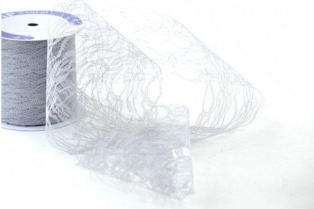 Merletti - Nastro di Pizzo Grigio mm.40 metri 10 - un prodotto unico di raffasupplies su DaWanda