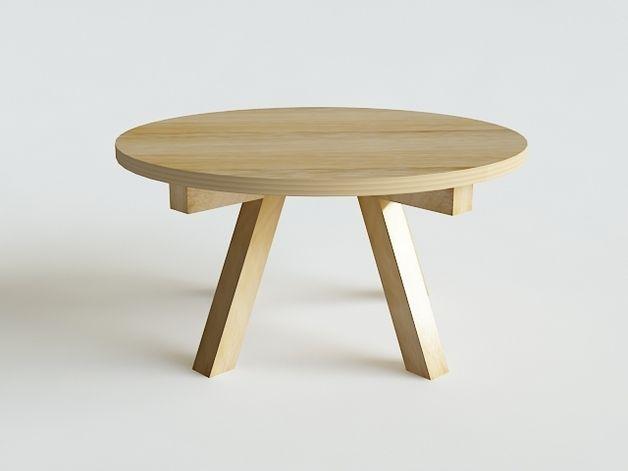EL_ka stół okrągły lite drewno dębowe, fi 120cm. - KOSICKAdesign - Stoły