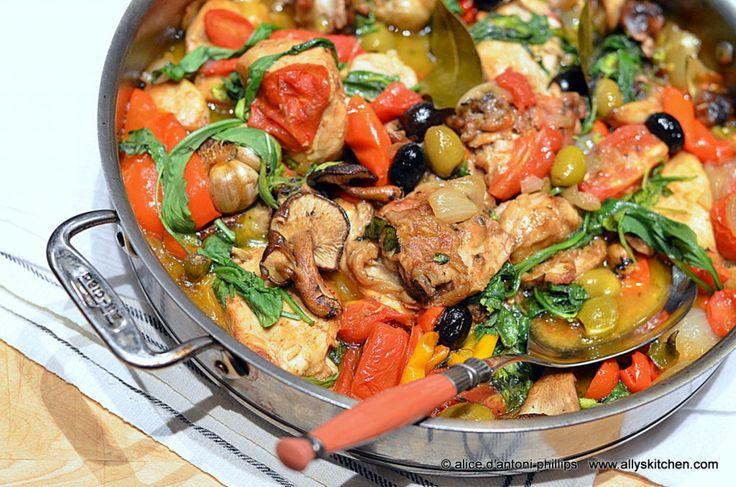 ~turkish-style chicken veggies olives & garlic~