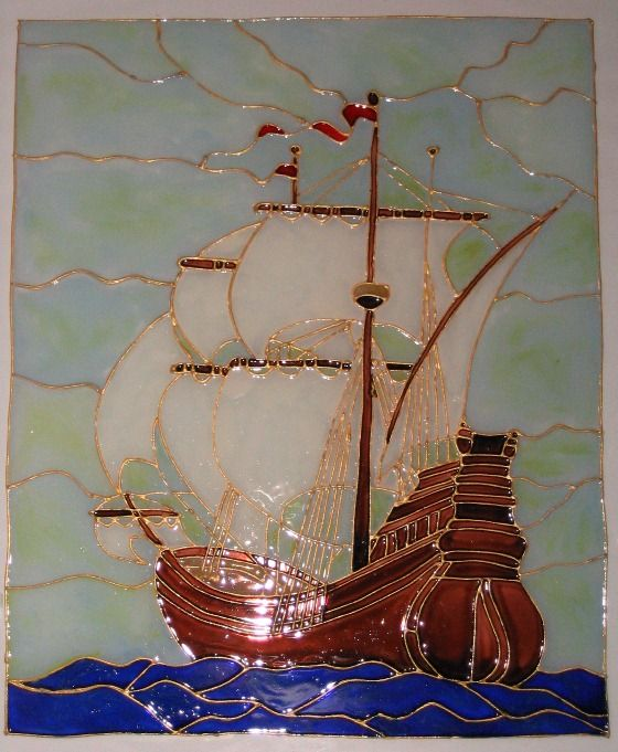 Tall Ship Stained Glass