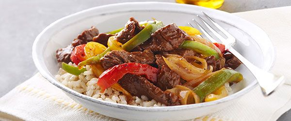 This easy beef stir-fry stars fresh asparagus, spicy sauce and strips of sirloin served over fluffy rice—and it's ready in just 25 minutes.