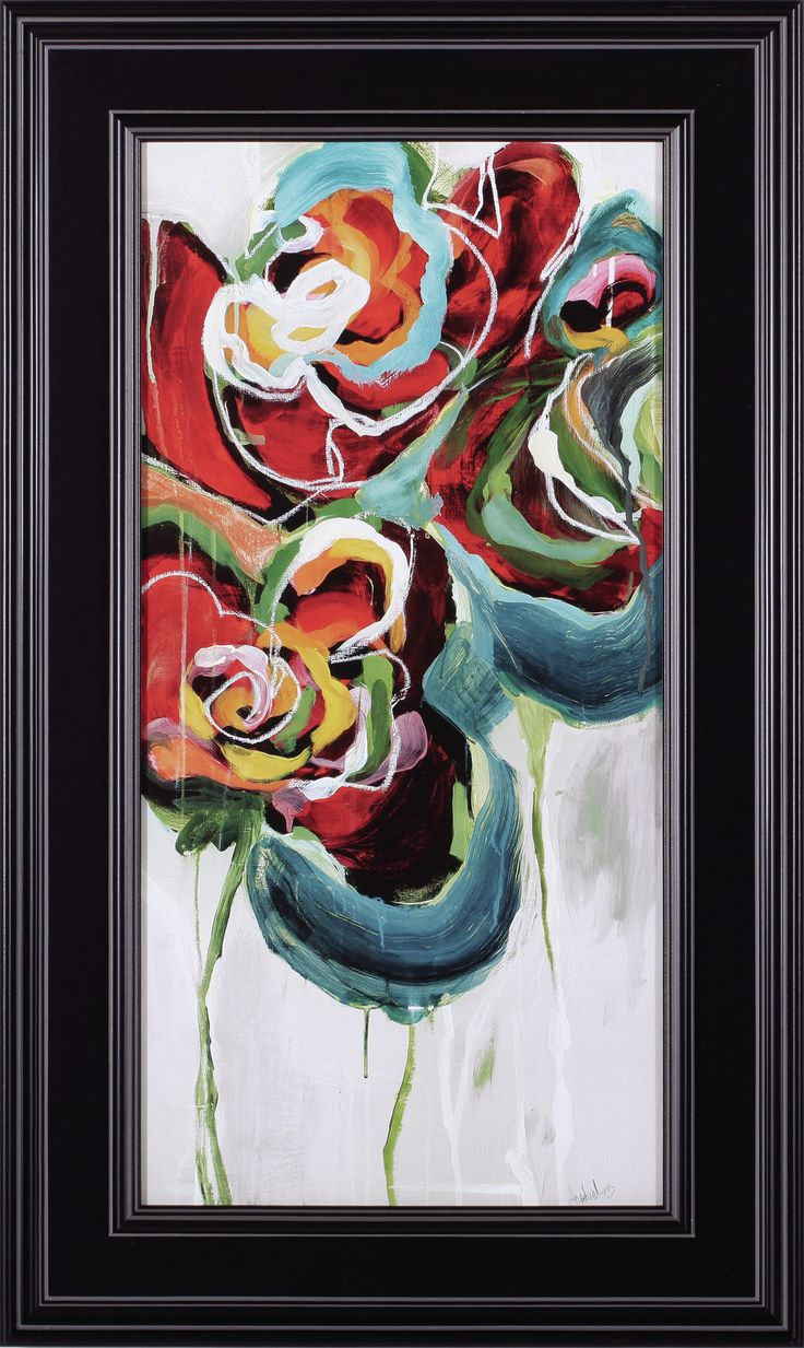 Wasabi Rose Ii By Angela Maritz Framed Painting Print
