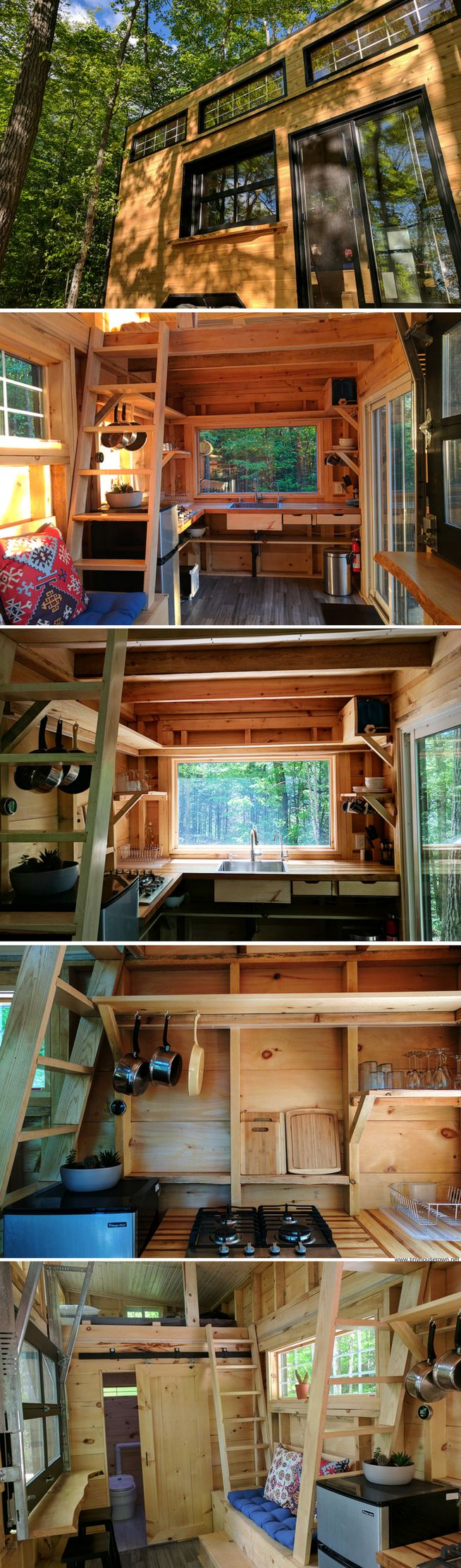 The Auburn: a tiny house available for rent from Cabinscape in Frontenac, Ontario