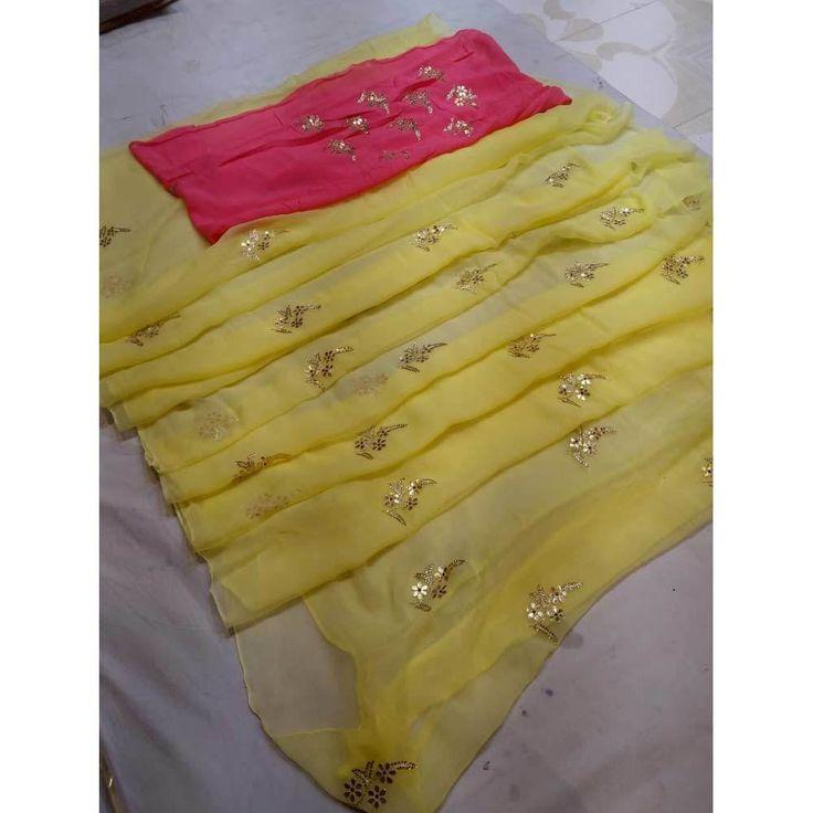 Pure Diamond Chiffon Saree in 2019   Designer Indian ...