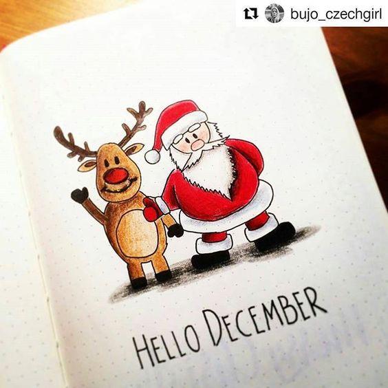 30 Weihnachtsideen für Ihr Bullet Journal