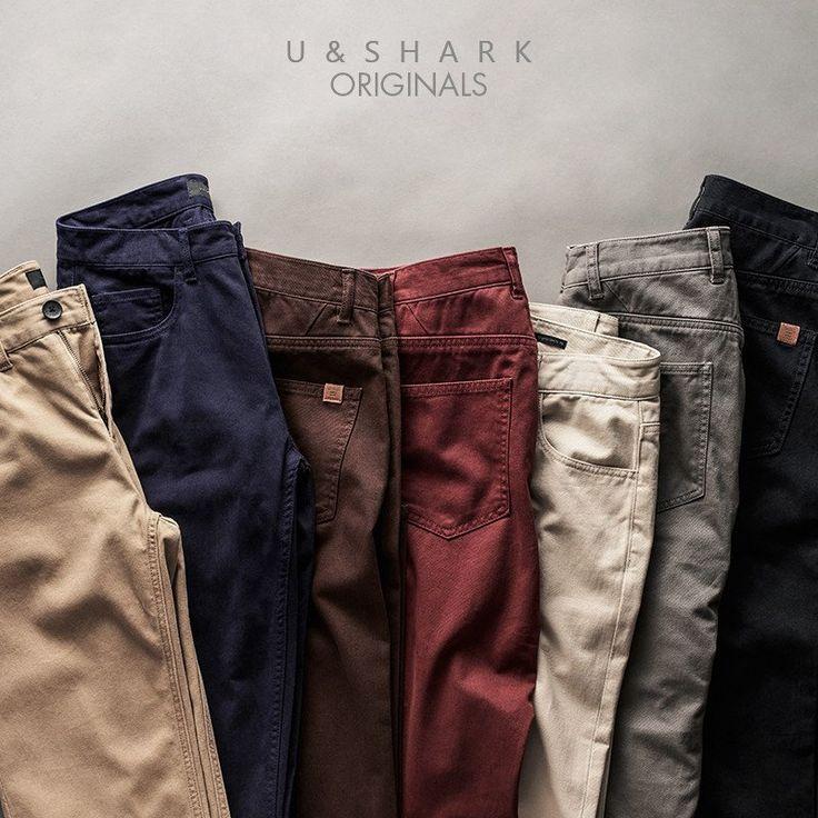 Khaki Casual Pants Man Work Pants Quality Slim Fit Cotton Formal